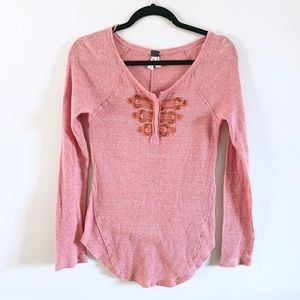Free People   Battalion Thermal Henley